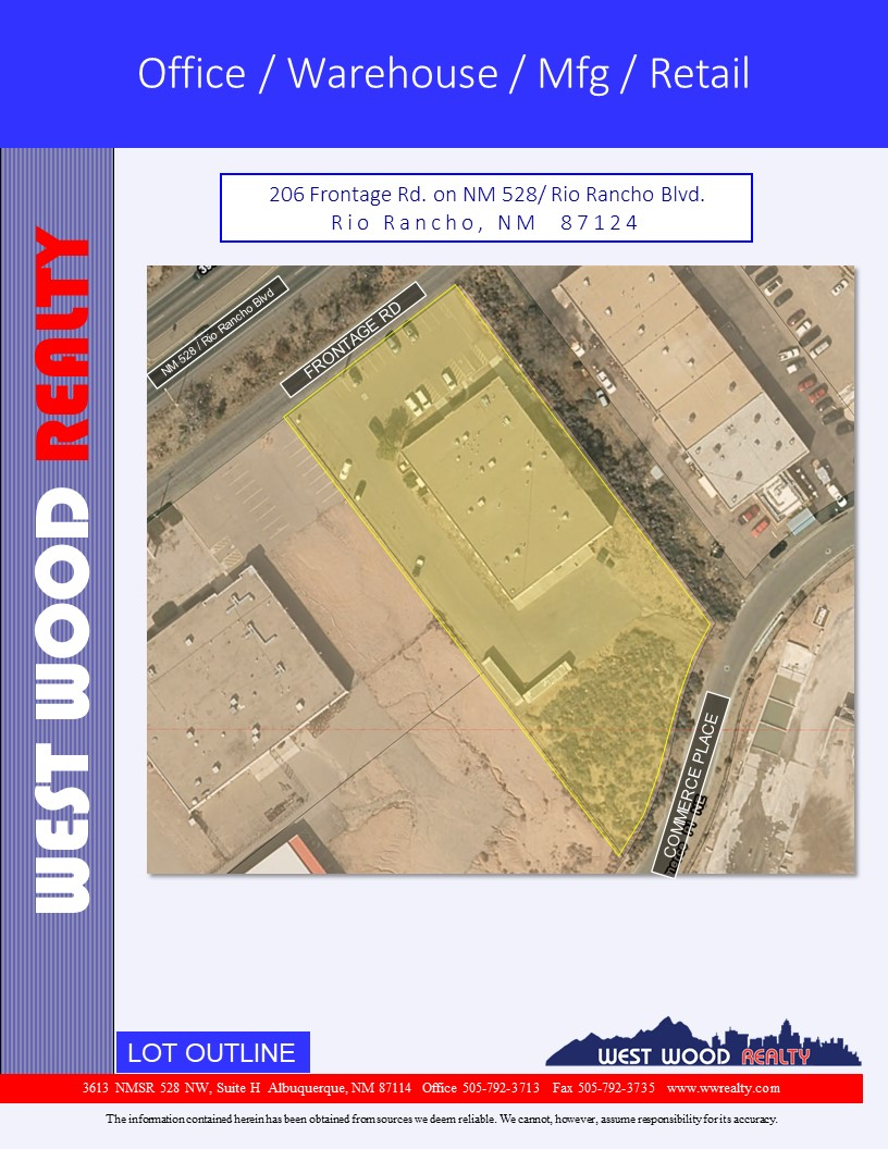206 Frontage Rd, Rio Rancho, New Mexico 87124, ,Office Warehouse,For Lease,Frontage Rd,1,1093